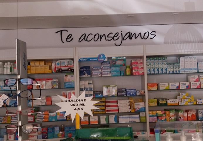 | Letras corporeas de PVC para decoración de farmacia