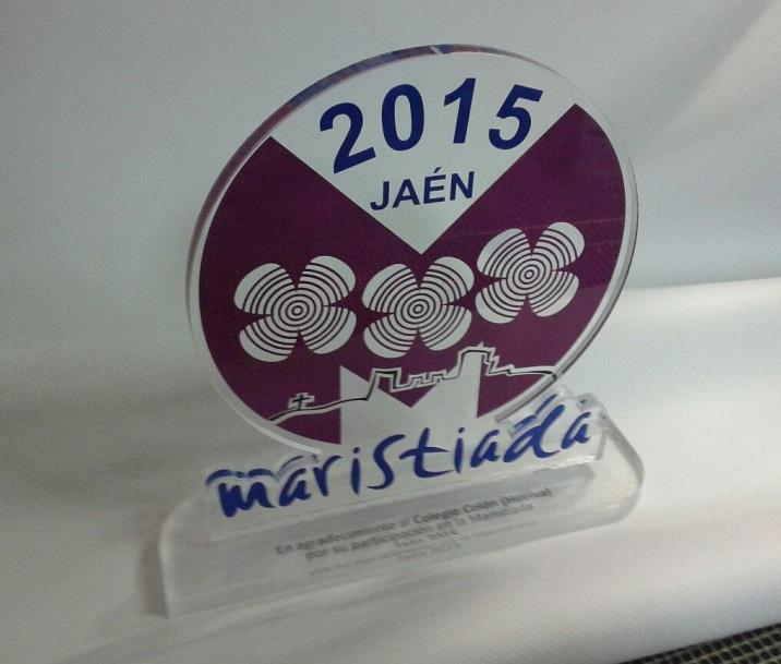 | Trofeo de metacrilato fresado y rotulado