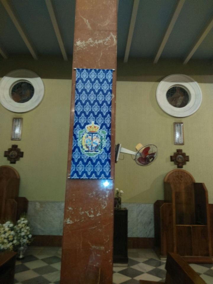   Colgadura de lona impresa para decorar Iglesias