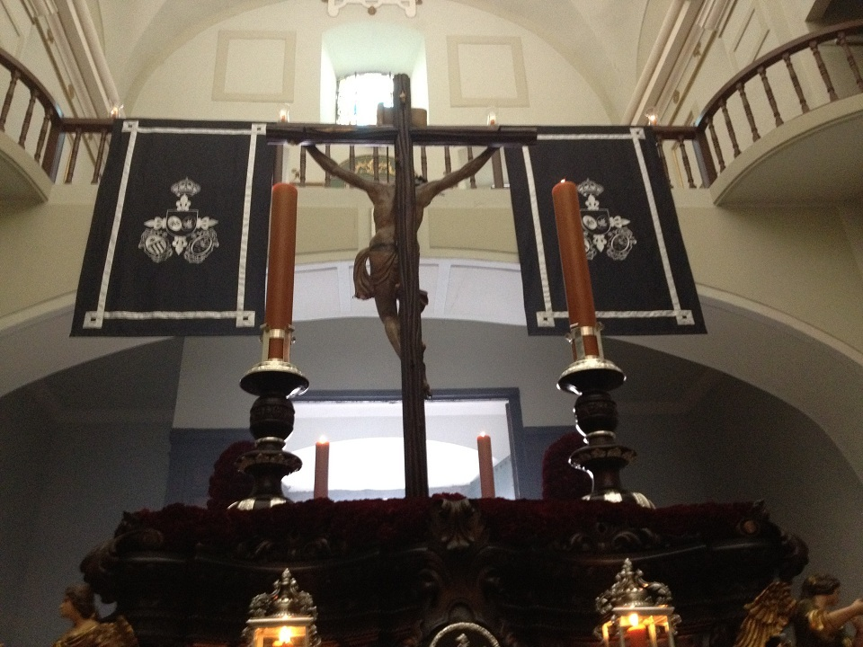   Decoración en colgaduras para la cofradía de los Estudiantes de Jaén